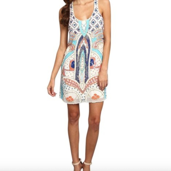 Parker Dresses & Skirts - Parker Ramsey Woodley Silk Beaded Tank Dress